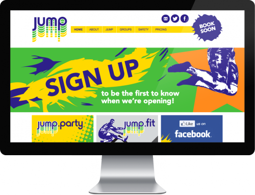 Screenshot of the JUMP website