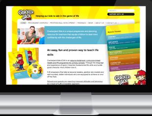 Screenshot of Crackerjack Kids website