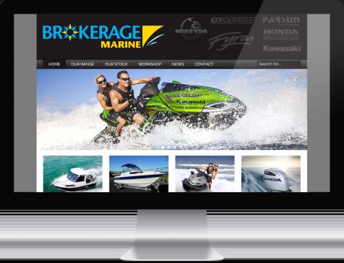 A brokerage model is used